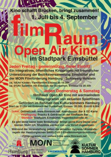 filmRaum Open Air Kino im Sommer 2021